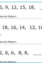 Matematică clasa 1 - Șiruri de numere