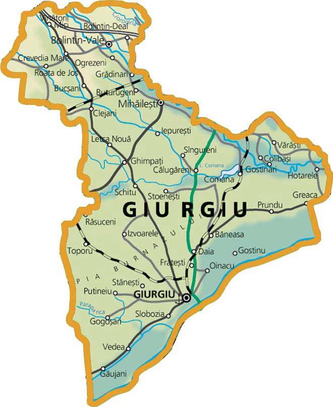 Județe din România – Giurgiu