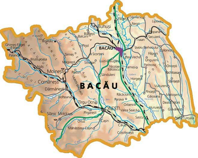 Județe din România – Bacău