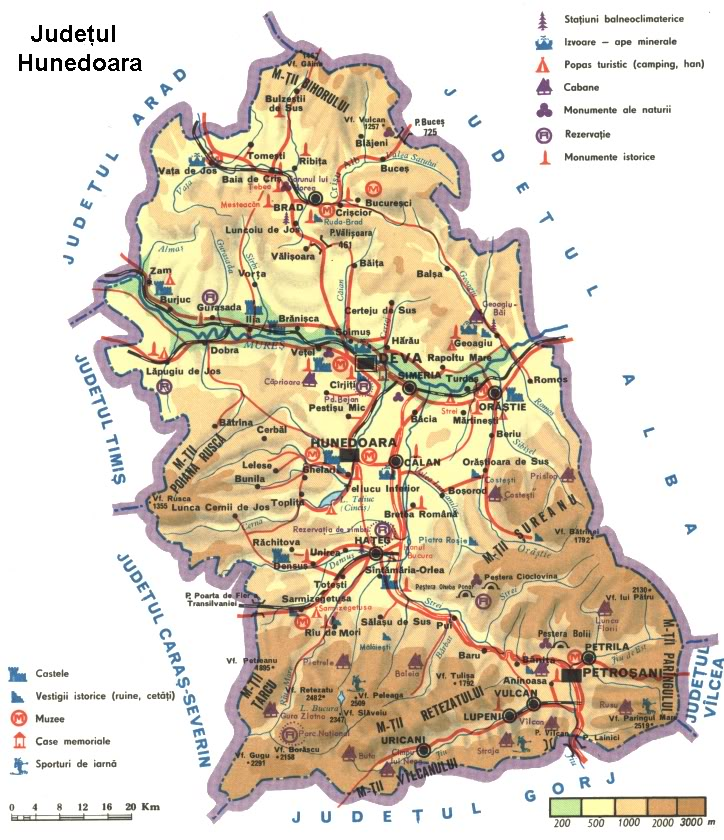 Județe din România – Hunedoara