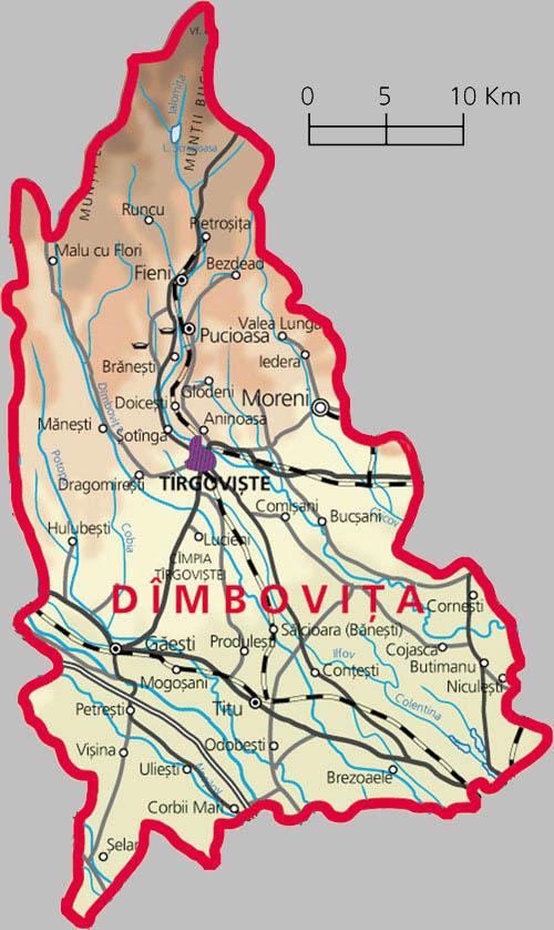 Județe din România – Dâmbovița