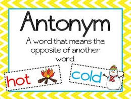 Antonyms – First Grade (Cl 1)