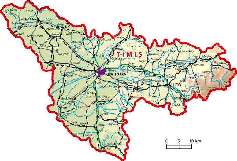 Județe din România -Timiș