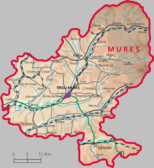 Județe din România – Mureș