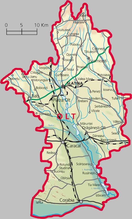 Județe din România – Olt