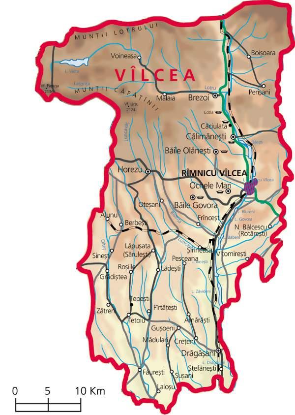 Județe din România – Vâlcea