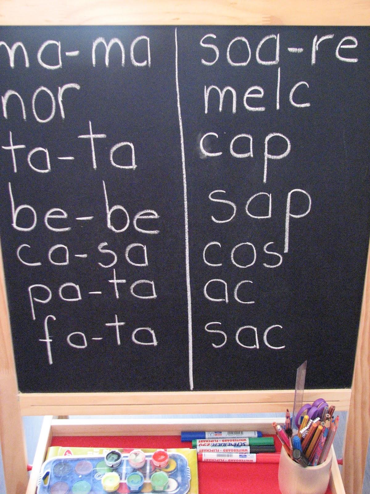 Câte silabe au următoarele cuvinte?
