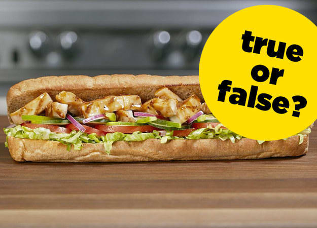 TRUE OR FALSE with FOOD