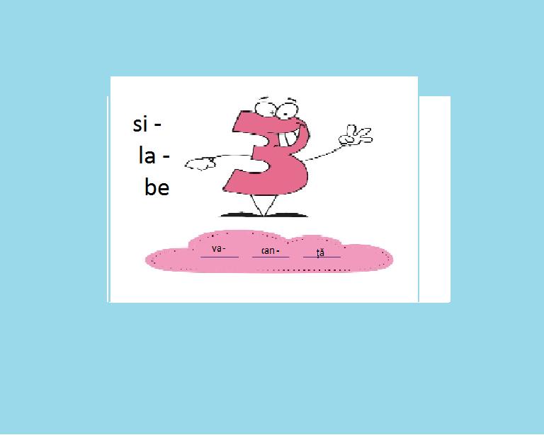 Să ne jucăm în vacanţă cu silabele ! ☺