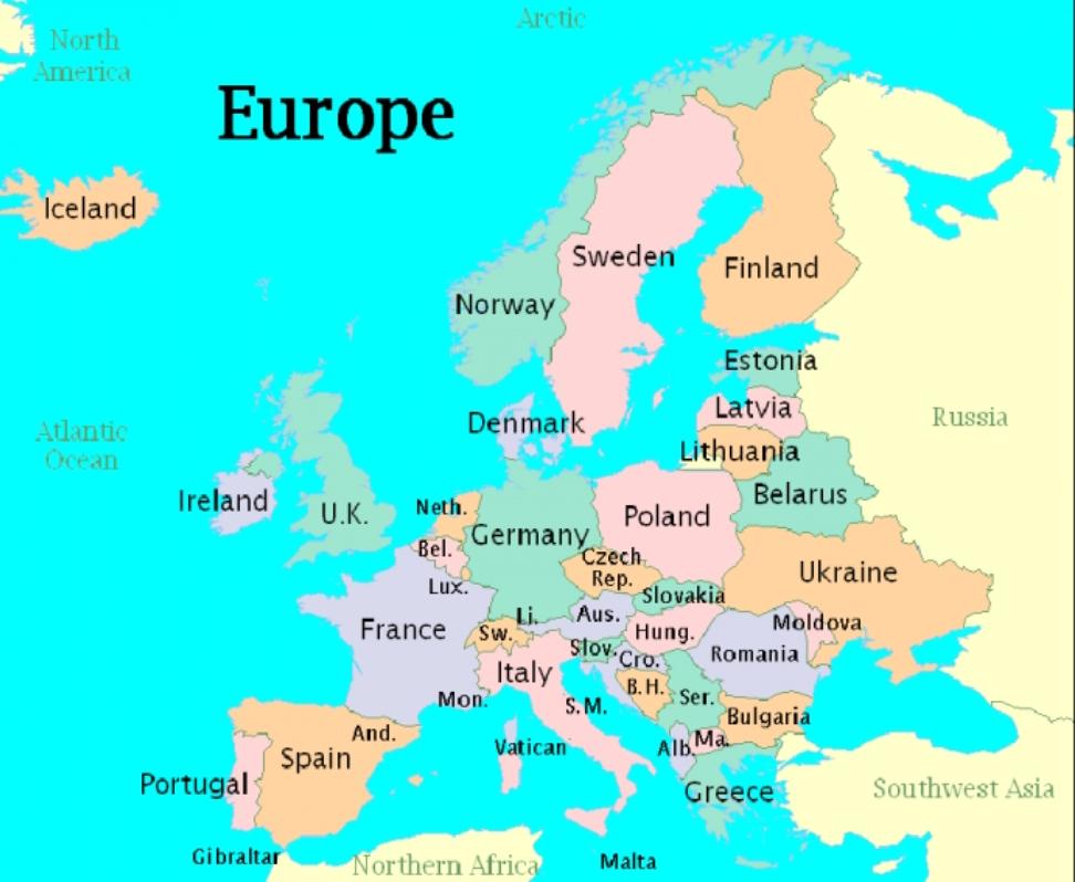 Țări și capitale europene – 1