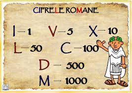 SCRIEREA CU CIFRE ROMANE