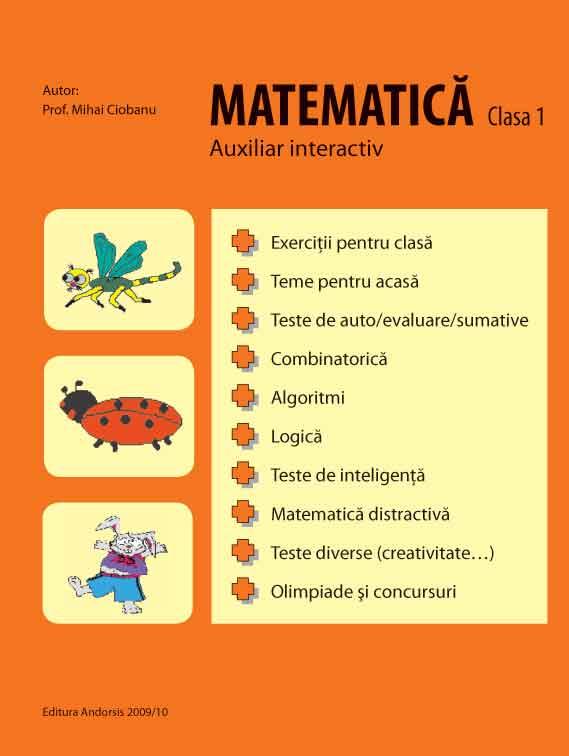 Operații matematice pentru pitici (clasa I)