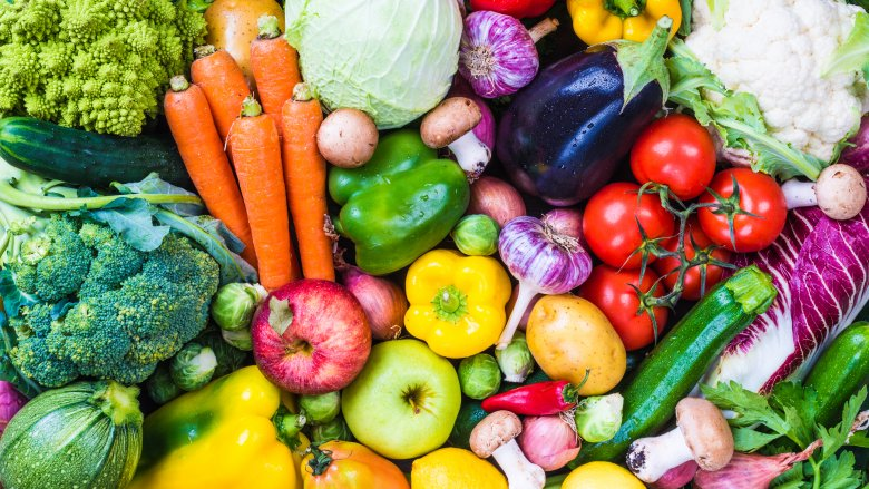 Match the color with the vegetable!