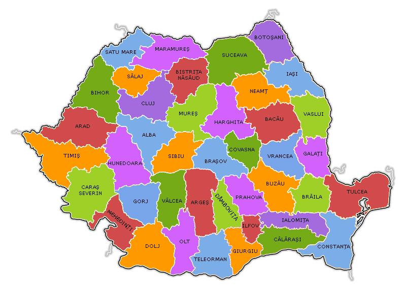 Geografie: Resedintele Judetelor din Romania