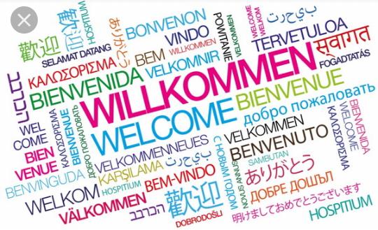 Bun venit – In mai multe limbi