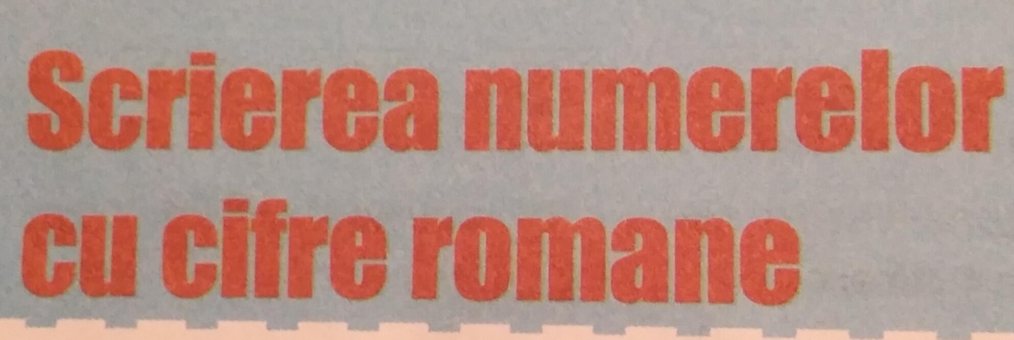 Cifre romane până la 39