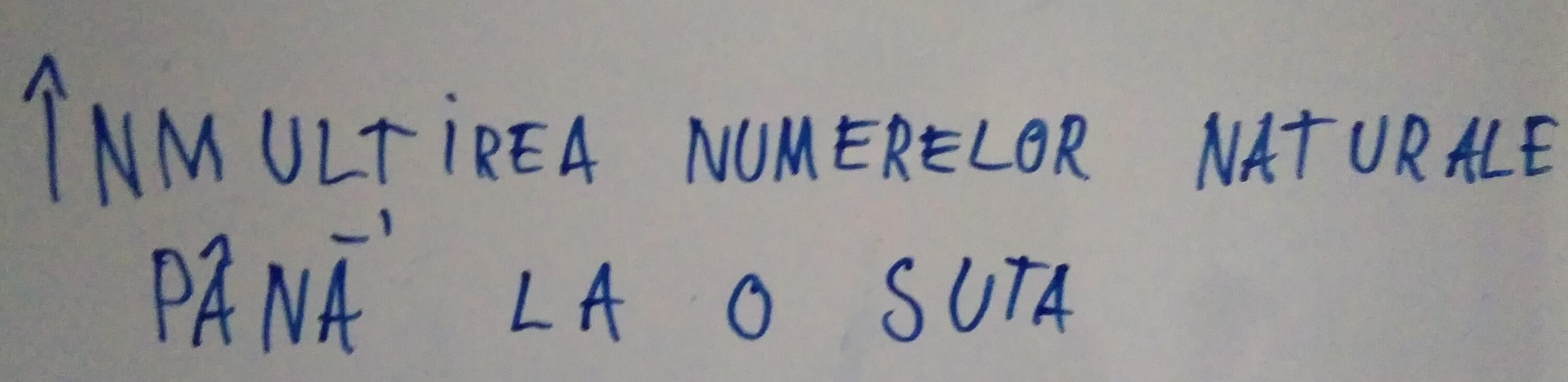 Înmulțirea numerelor naturale până la 100