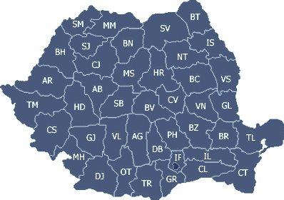 Judetele din Romania si resedintele lor