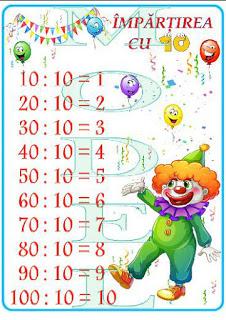 Cine știe tabla împărțirii cu   10 ?