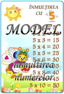 Cine ştie tabla înmulțirii cu 5 ?