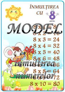 Cine ştie tabla înmulțirii cu 8 ?