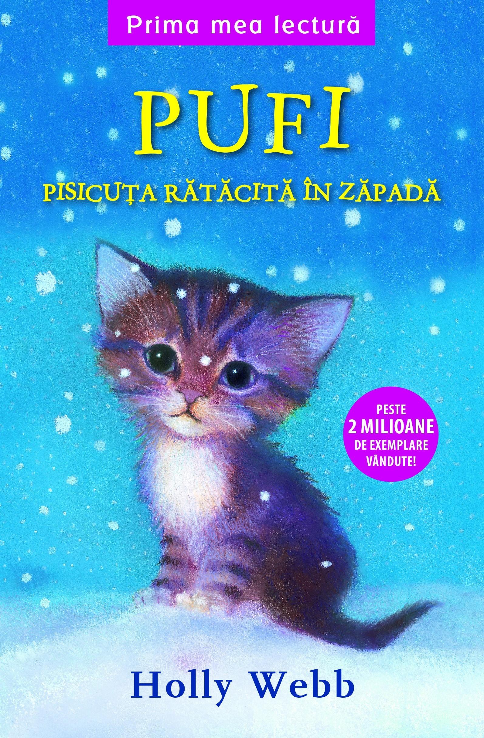 Pufi pisicuța rătăcită în zăpadă