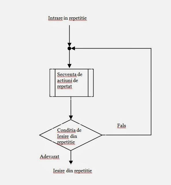 Structura repetitivă cu test final