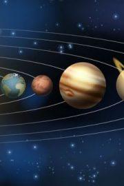 Soarele și planetele care graviteză în jurul lui