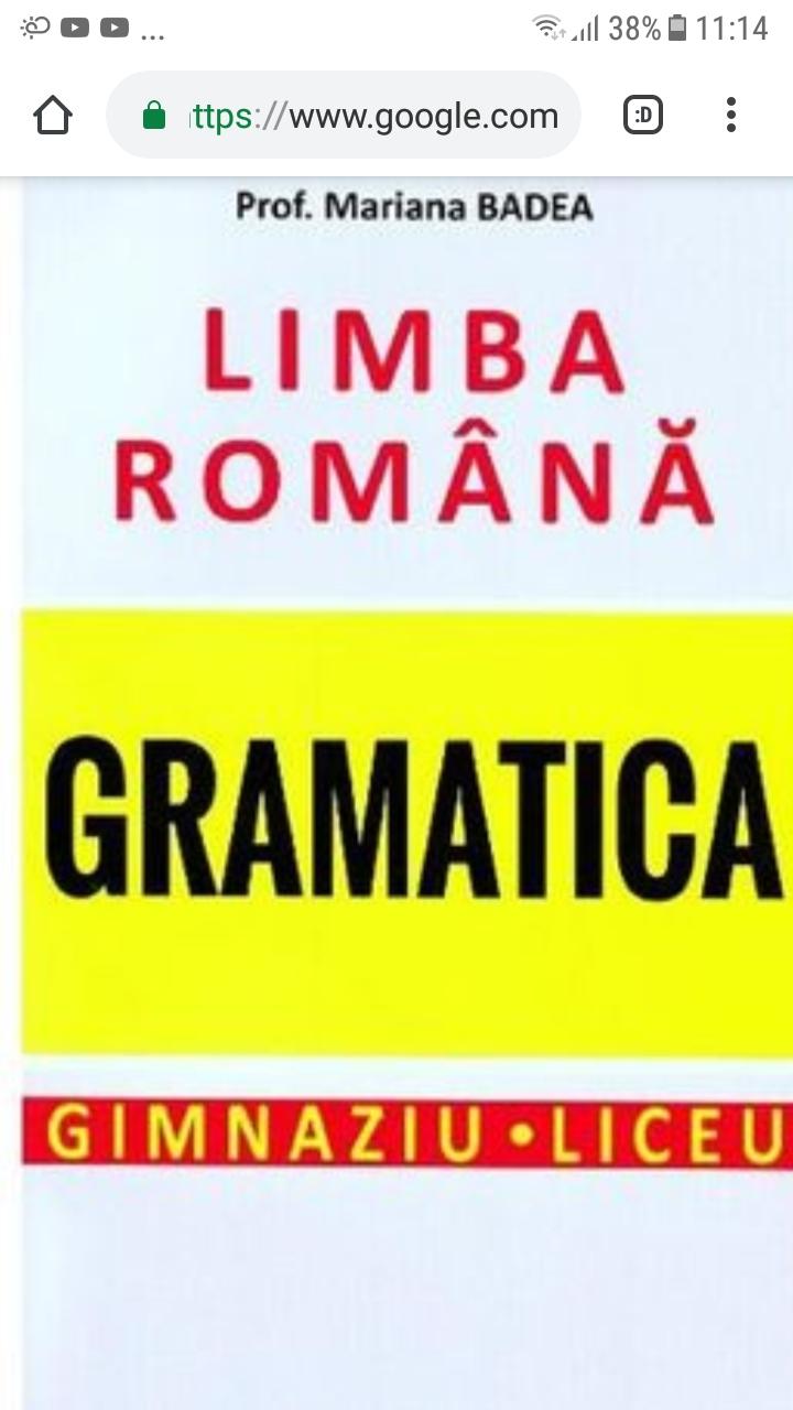 Gramatica limbii române (f.s. și valori morfologice) ;)