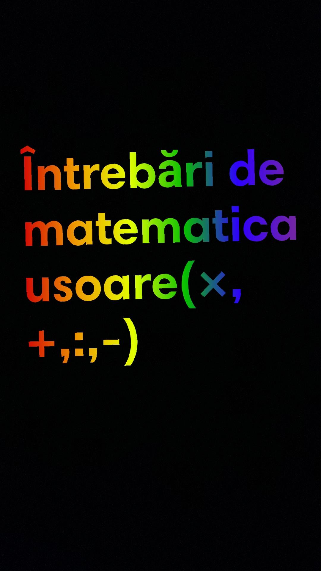 Intrebari usoare din matematica
