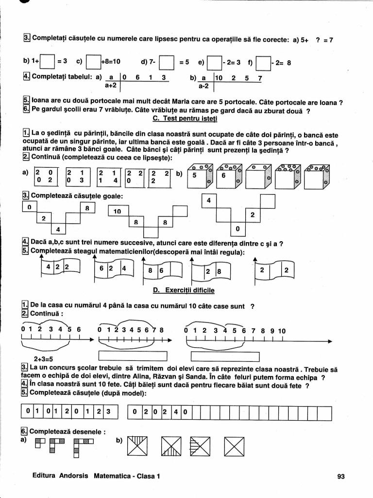 Matematica pentru clasa II – [duplicate]