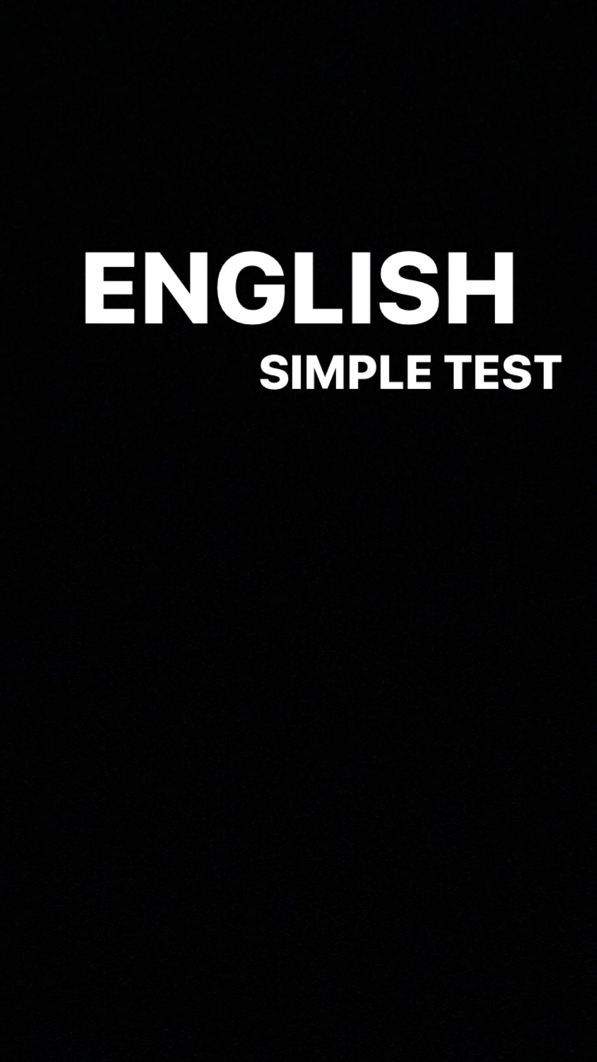 Test de cunoștințe la engleza