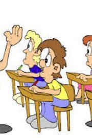 Was sagt die Lehrerin in der Schule oft?