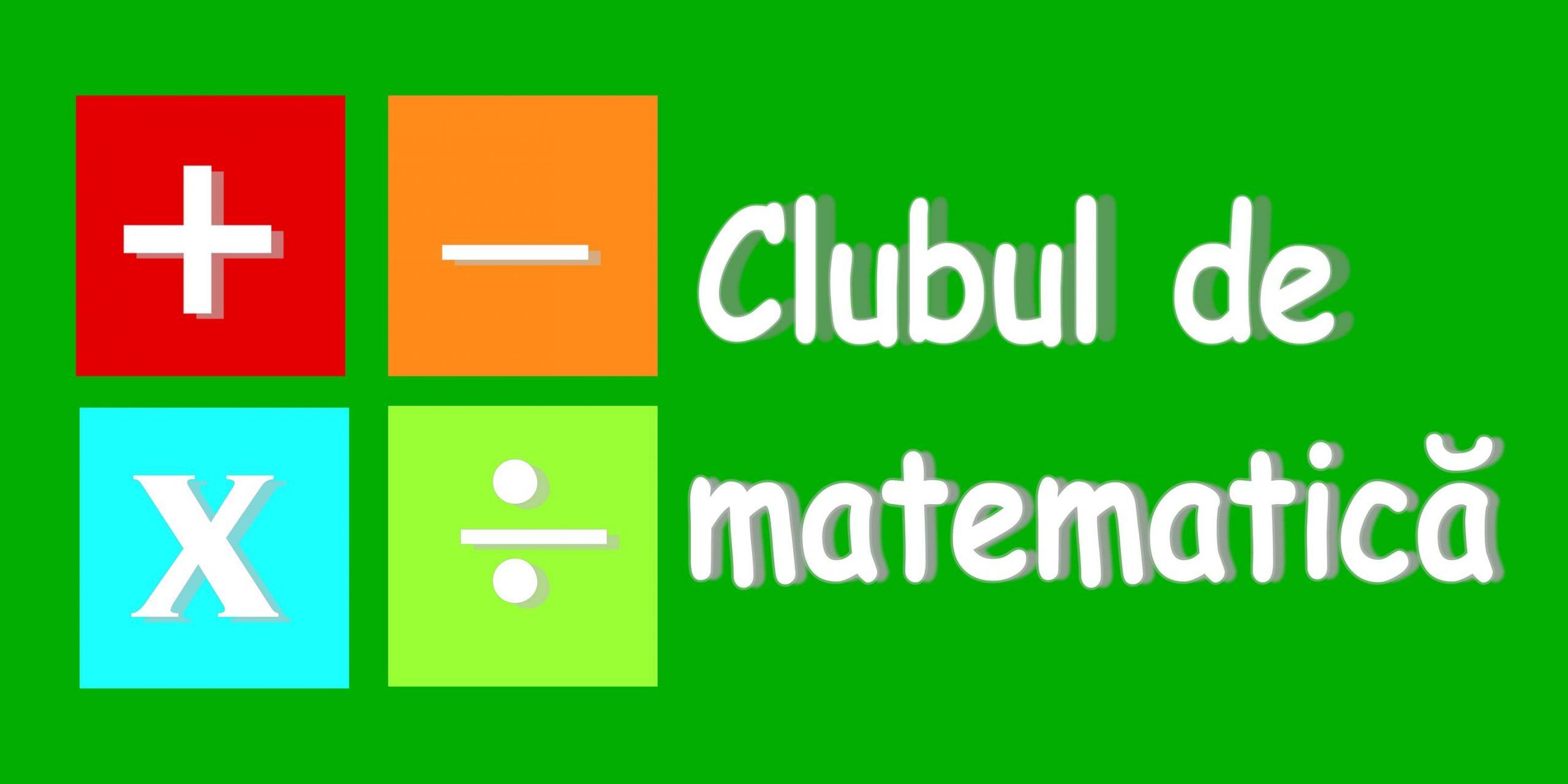 Matematica pentru clasa I