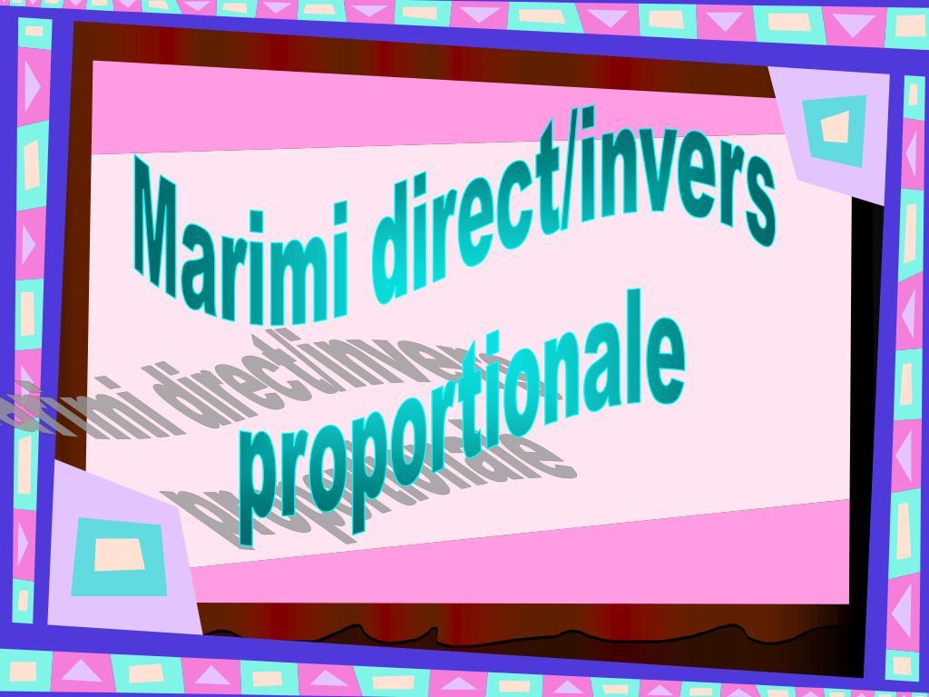 Lecția 11. MĂRIMI INVERS PROPORȚIONALE – pregătirea Evaluării Naționale 2020
