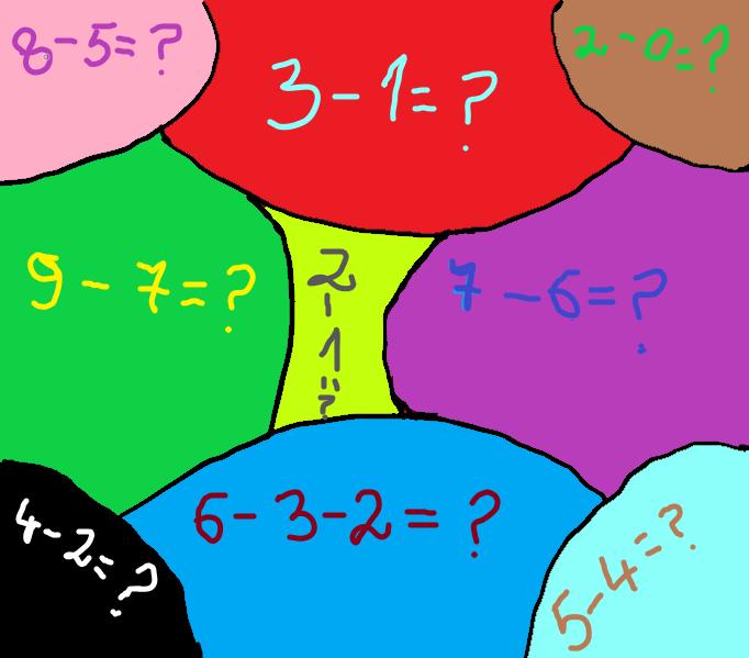 Matematică pentru cei mai mici (scăderi) din grupa pregătitoare!