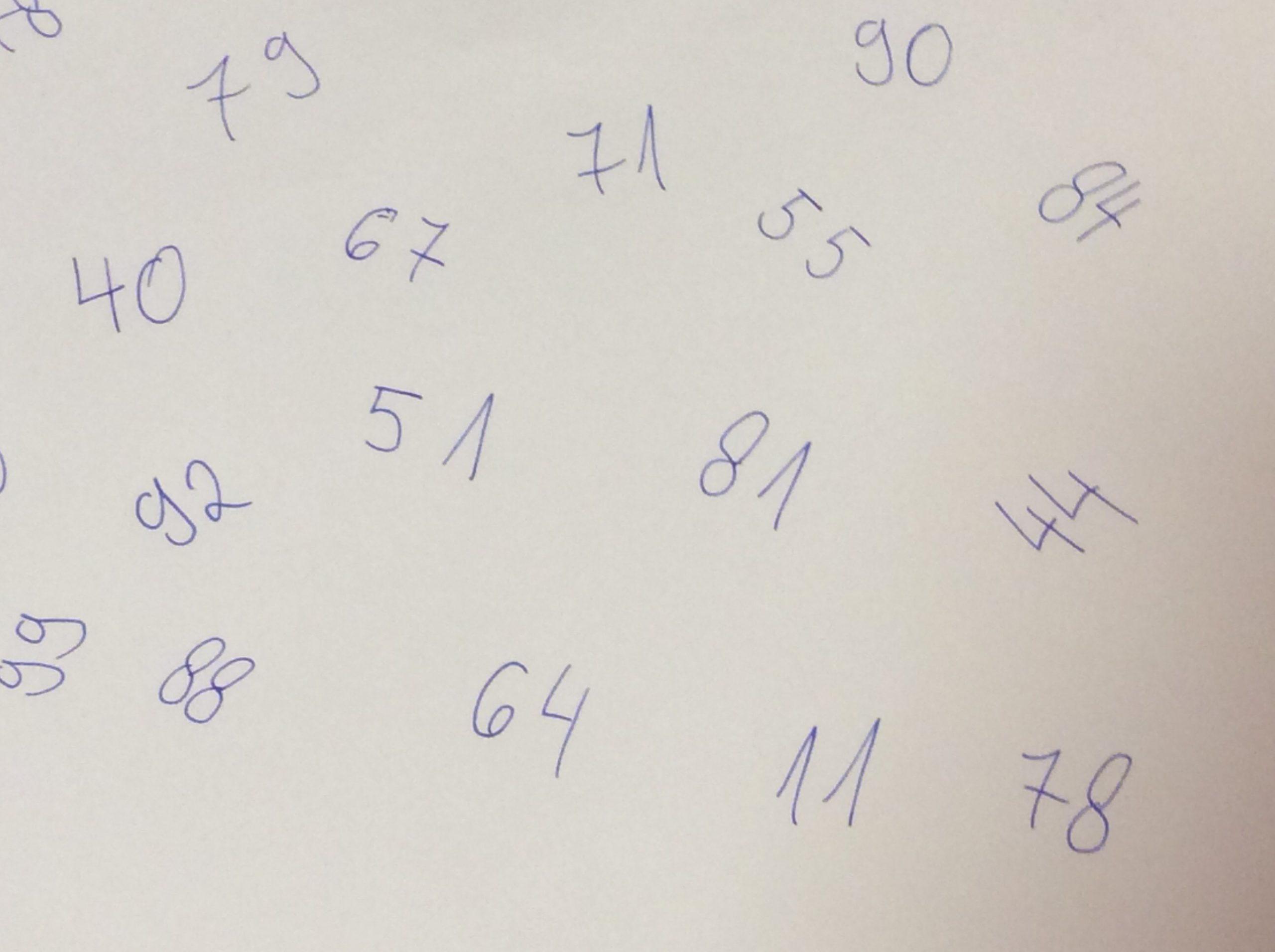 Exerciții de matematică fără trecere peste ordin
