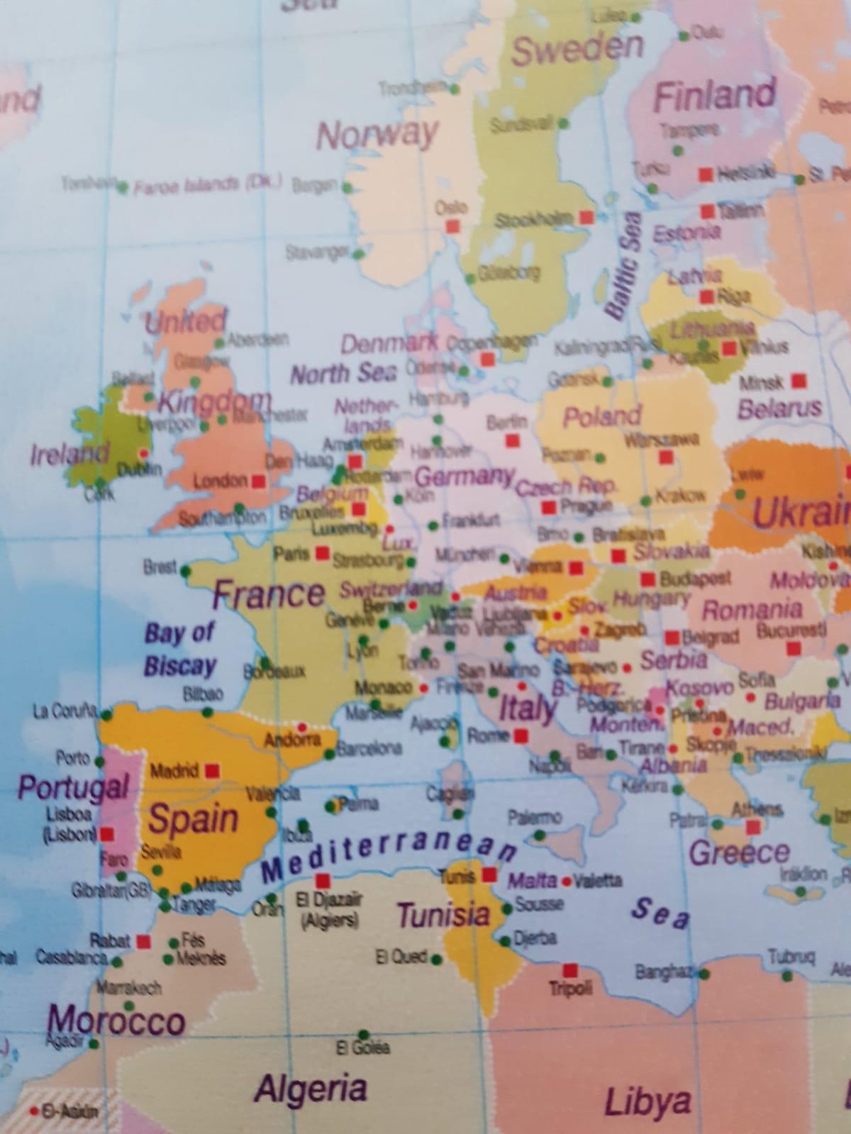Capitala si Tarile  a  Europei