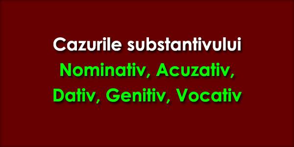 Substantivul. Cazurile substantivului