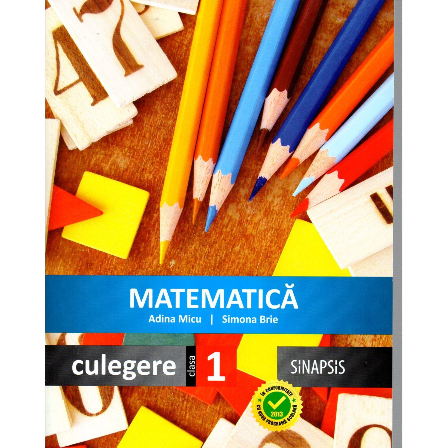 Matematica simpatică 0-50 Clasa I