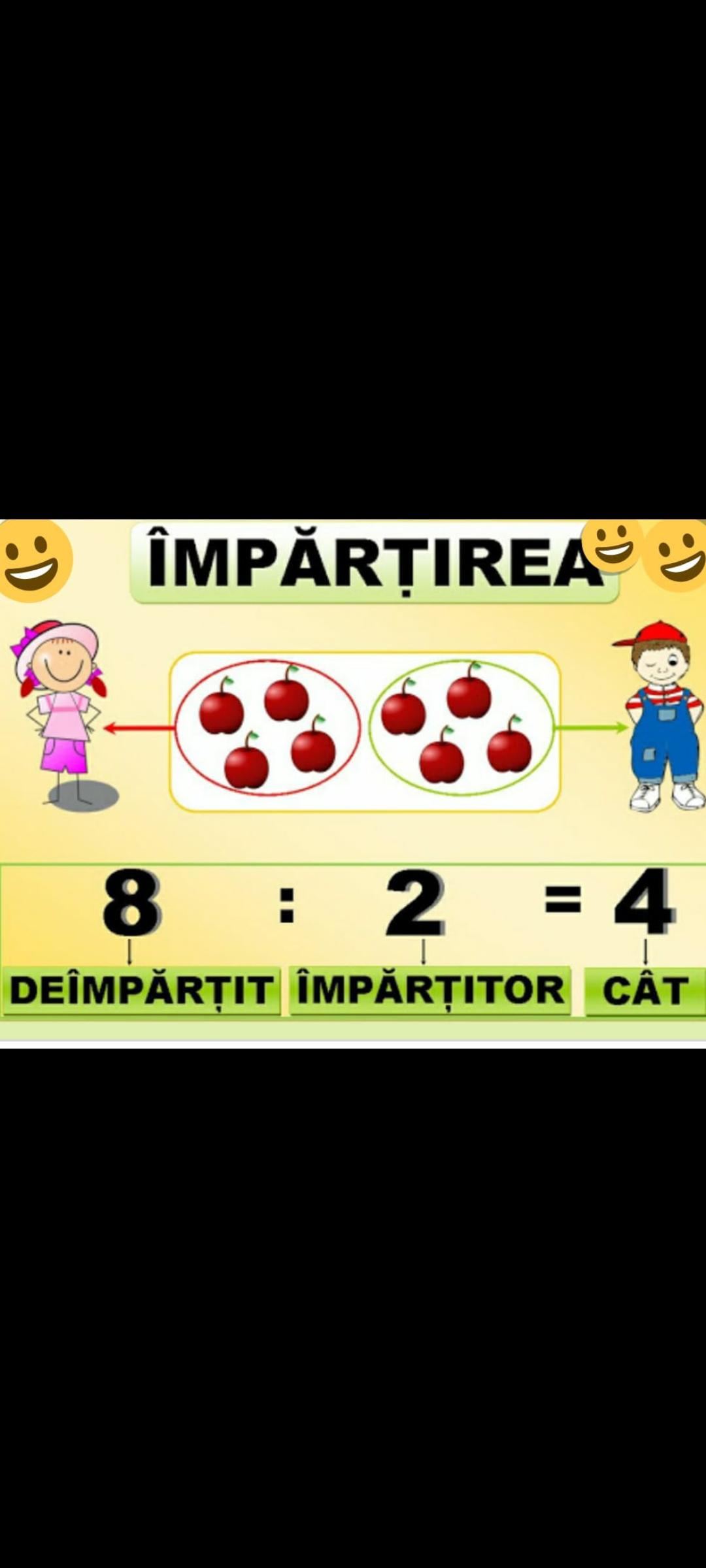 Împărțirea numerelor naturale de 0 la 100
