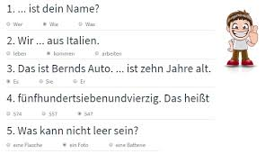 Test limba germana