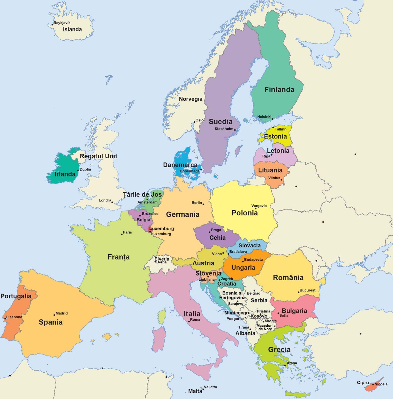 Capitale cunoscute din Europa