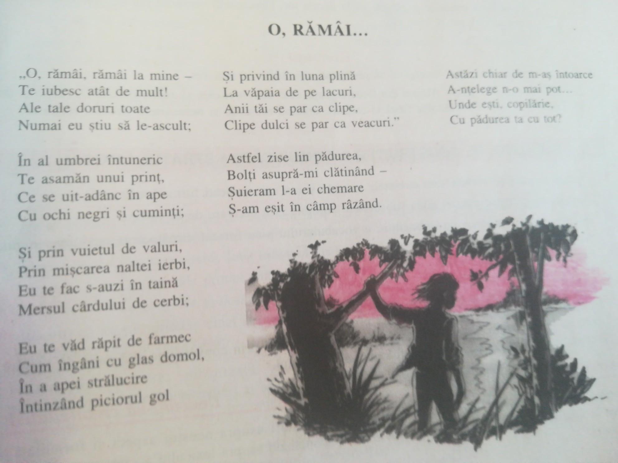 O, rămâi…-poezie eminesciană