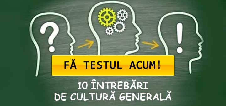 Teste cultura generala a elevilor de clasa 1