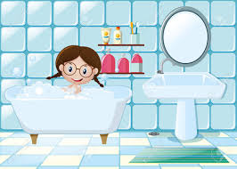 Im Badezimmer