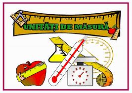 UNITATI DE MASURA – RECAPITULARE