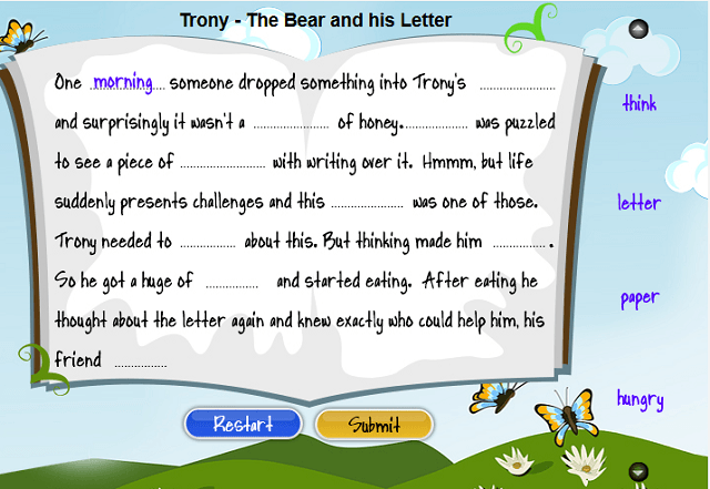 Complete the sentences with the right words