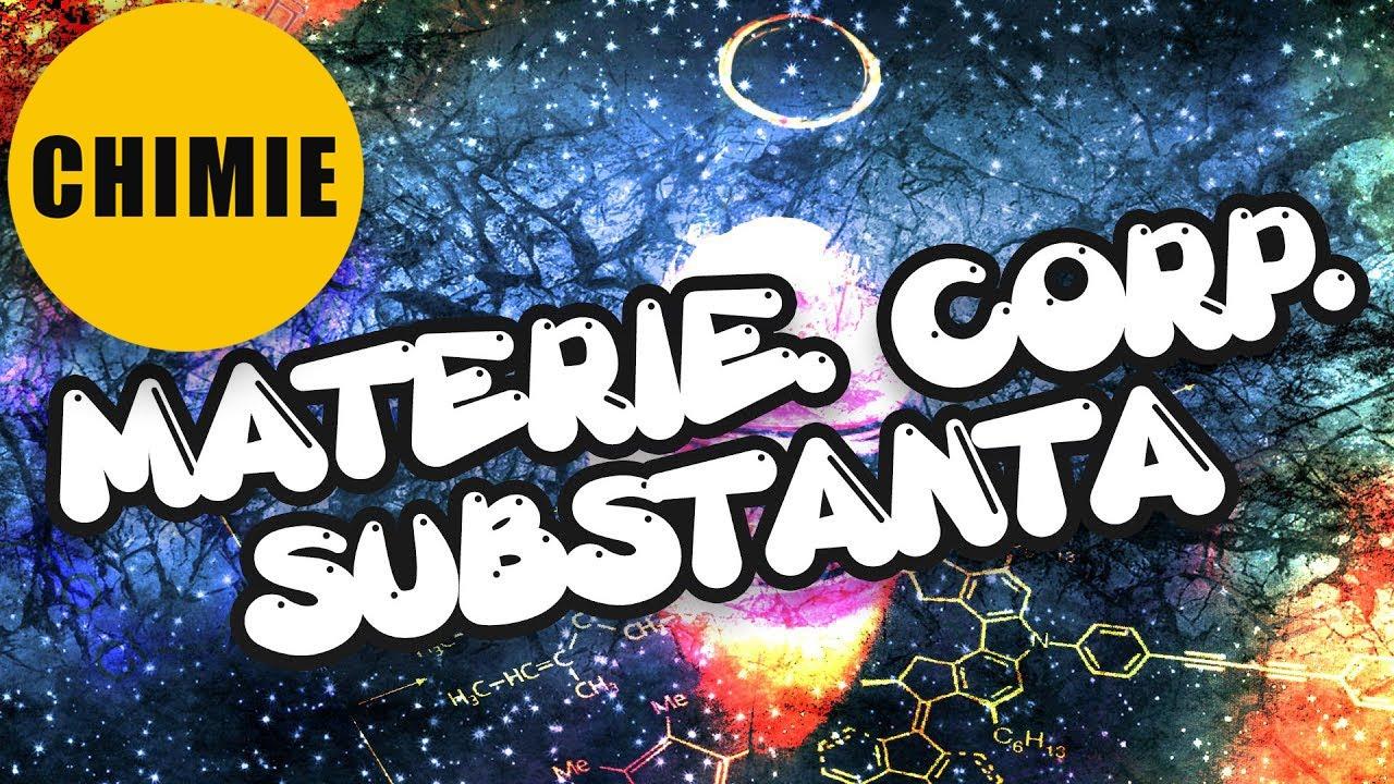 Materie. Substanță. Proprietăți și fenomene ale substanțelor