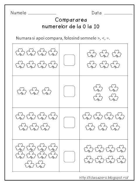 Comparații numere 0-30